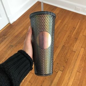 Starbucks Fall 2020 Iridescent Black Studded Cup